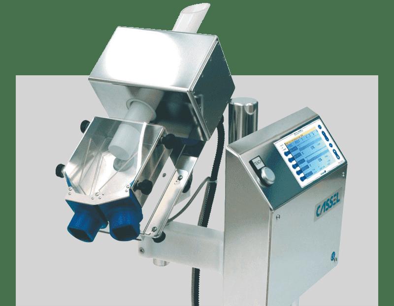 Detector de metales para productos granulados, pastillas, caramelos y similares