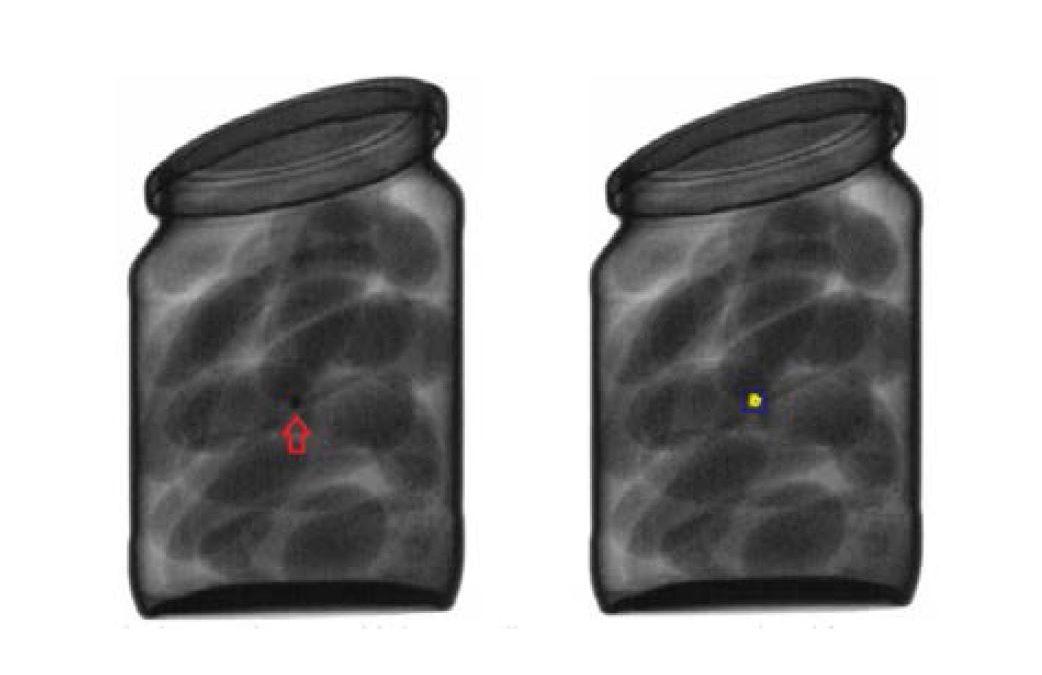 Rayos X para detectar vidrio en envases de vidrio